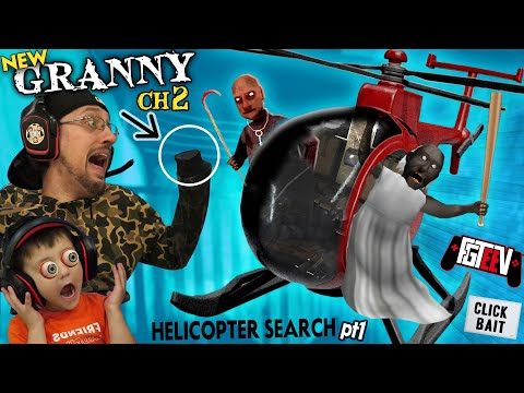 GRANNY has a HELICOPTER!?!  FGTeeV Explores NEW Chapter 2 Locations (No Hands Gameplay / Skit)