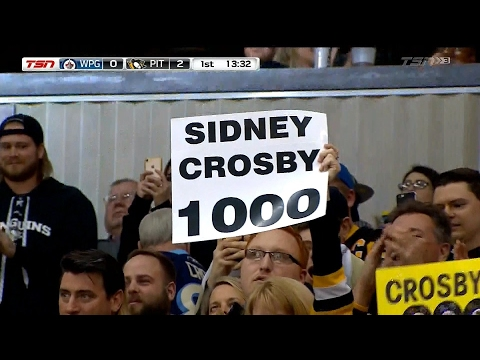Video: Pittsburgh Penguins' Sidney Crosby scores 1,000th career point