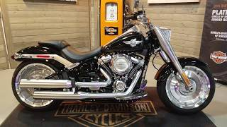 5. 2018 Harley-Davidson Softail Fat Boy FLFB- vivid black
