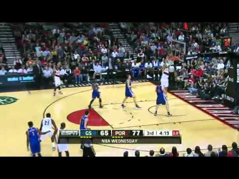 Felton to Batum alley oop dunk on the Warriors