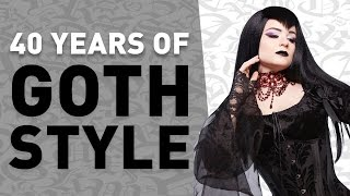 Goth Fashion 1976-2016: From UK punks to today's Nu Goths, the evolution of goth clothing, hair and make-up styles. Batcave ...