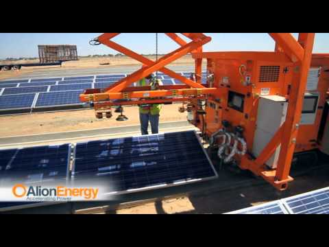 Solar Farm Mouting Robots : Alion Mounting System (AMS) by Alion Energy United States