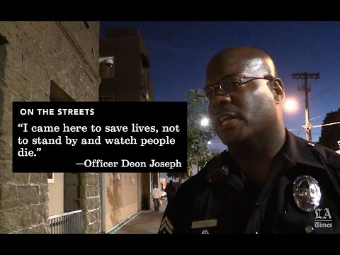 Join an LAPD officer on a Friday night patrol inside Skid Row