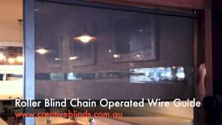 Roller Blind Wire Guide Byron Bay