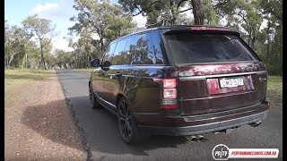 2017 Range Rover SVAutobiography Dynamic 0-100km/h & engine sound. Head over to http://performancedrive.com.au/2017-range-rover-svautobiography-dynamic-review-video-1013/ for the full review.2017 Range Rover SVAutobiography Dynamic5.0-litre supercharged V8405kW and 680NmEight-speed automatic, all-wheel driveFor more stats and test results simply head over to our performance data table here: http://performancedrive.com.au/performance-data/