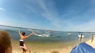 Giant Human Sling Shot Slip And Slide