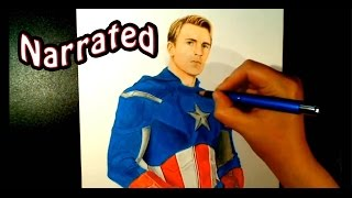 Captain America Drawing from Avengers