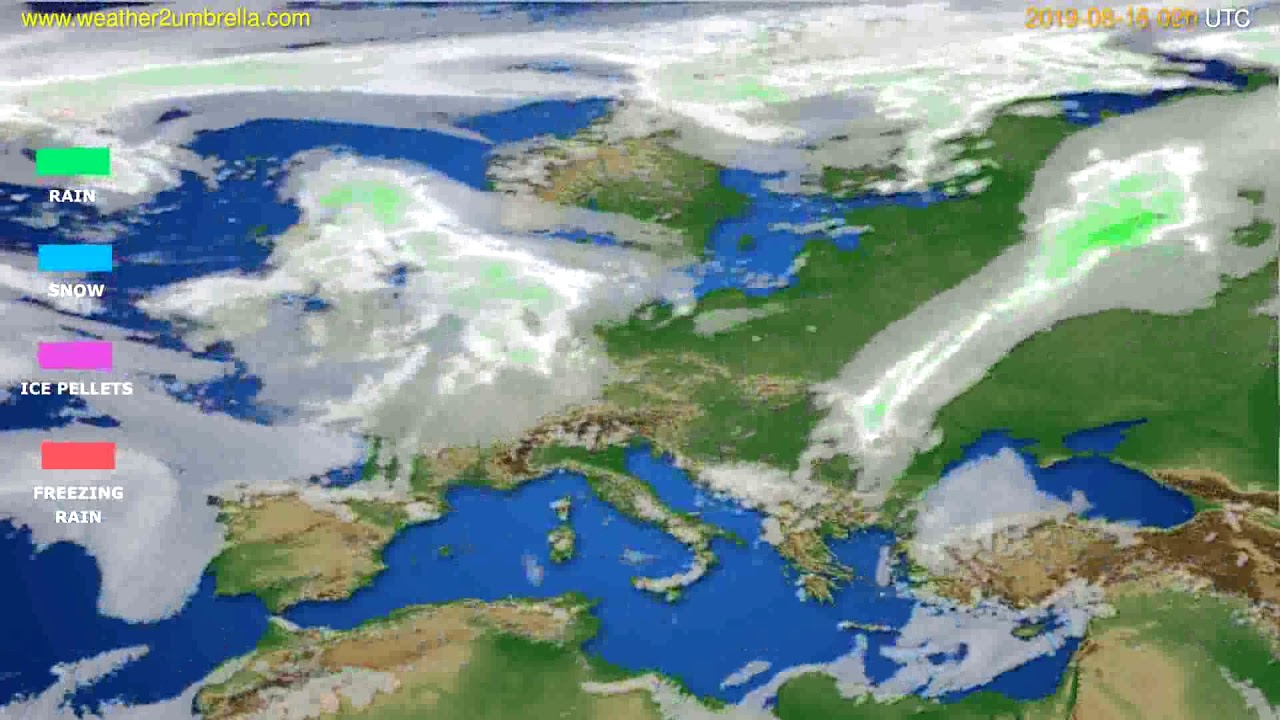 Precipitation forecast Europe // modelrun: 12h UTC 2019-08-12