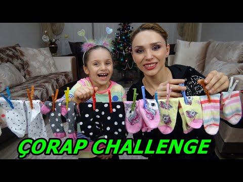 Lina İle Çorap Challenge Oynadık Bakın Kim Kazandı | Socks Challenge