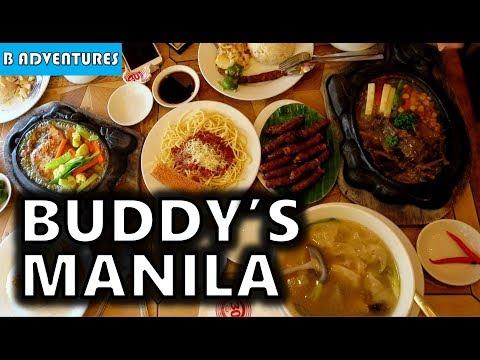 Buddy's Filipino Food Manila Philippines S3, Vlog 10