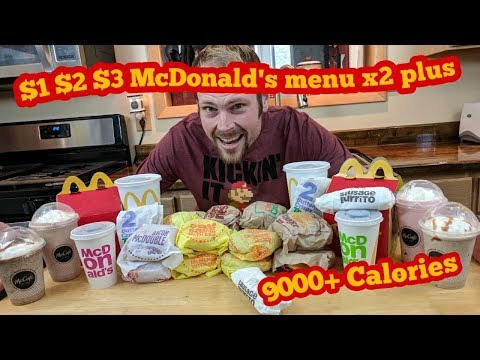 McDonald's Entire $1 $2 $3 Menu DOUBLED + NAADER REDA