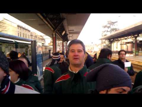 Protesta ferrovieri Trenord a Saronno