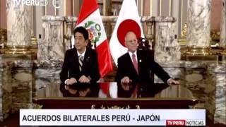 APEC 2016: Perú y Japón suscriben acuerdos bilaterales