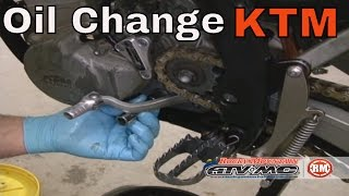 4. How To Change Oil on KTM RFS 4-stroke motorcycle/ATV