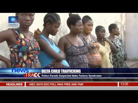 Police Parade Suspected Baby Factory Syndicates In Delta