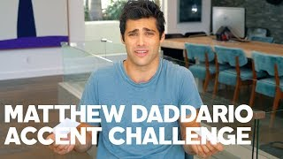 Matthew Daddario Reads His Tweets - With Accents!