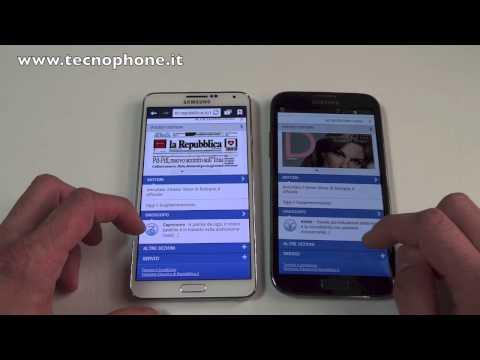 Video confronto : Samsung Galaxy Note II vs Samsung galaxy Note 3
