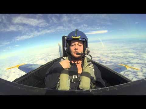 Katie Green's Blue Angel Flight Experience (Shorter) (видео)