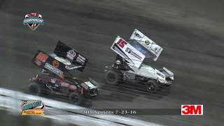 Knoxville Raceway 305 Highlights July 23, 2016