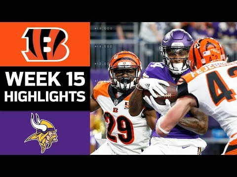 Bengals vs. Vikings | NFL Week 15 Game Highlights (видео)