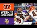 Bengals vs Vikings   NFL Week 15 Game Highlights
