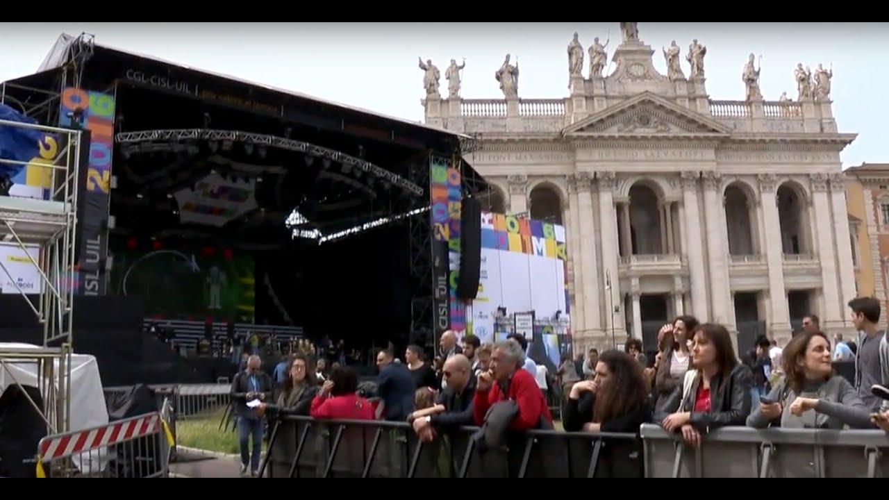 """Il """"concertone"""" del primo maggio a Roma"""