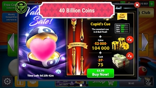8 Ball Pool - 40 Billion Coins - New Cupid's Cue  Berlin Match - [No Hack/Cheat] +++++++++++++++++++++++++++++ Willing to support my channel, Kindly Donate ...