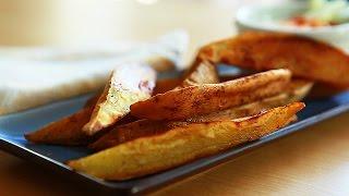 Palitinhos de batata-doce assados