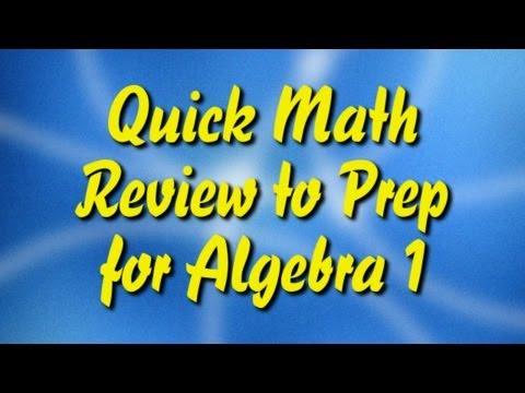 Eine schnelle Mathe-Wiederholung von Prep für Algebra 1