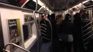 Fight in NYC transit calling lame at 2 guys