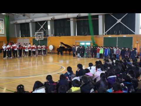 末広北小学校3年生合唱「富士山」オカリナ演奏「花和音」さんと♪