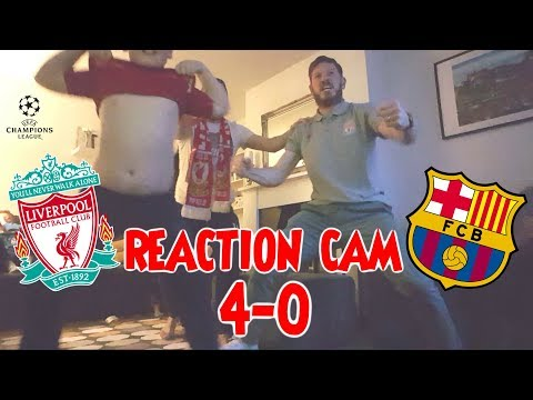 Liverpool 4-0 Barcelona (Fan Reaction Video)