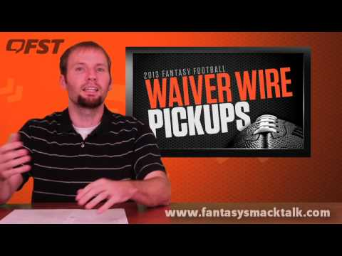 2013 Fantasy Football – Waiver Wire Week 5
