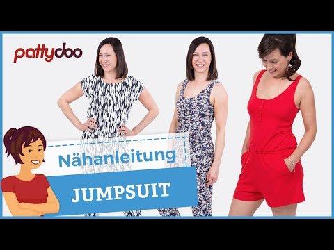 Jumpsuit/ Overall/ Playsuit aus Jersey nähen - mit Passe, Schlitz & Taschen