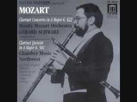 Concierto para clarinete y orquesta en La mayor, K. 622, de Mozart