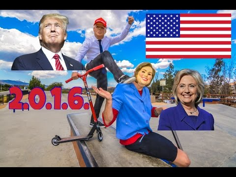 DONALD TRUMP VS HILLARY CLINTON GAME OF SCOOT (2.0.1.6.)