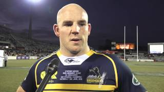 Stephen Moore speaks‬ after his 100th cap | Super Rugby Video Highlights