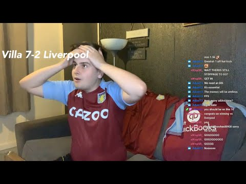 *VILLA FAN LIVE REACTION!* Aston Villa 7-2 Liverpool 😱😱