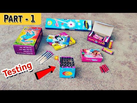 Diwali stash testing 2020 | Part 1 | Different types of crackers testing