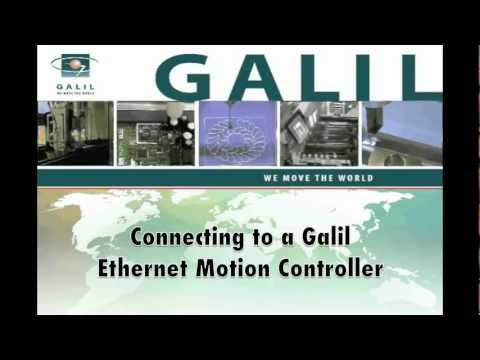 Connecting to a Galil Ethernet Motion Controller