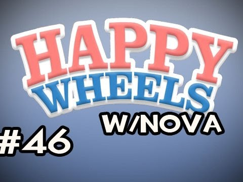 Happy Wheels w/Nova Ep.46 - Stick A Little Boy &amp; The Vision Test Video
