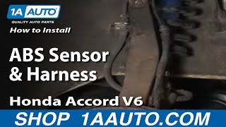 10. How To Install Replace ABS Sensor and Harness Honda Accord Odyssey Acura CL 1AAuto.com