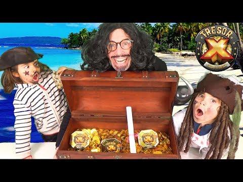 CHASSE AU TRESOR X ! - Les Pirates trouveront-ils le coffre aux trésors ?