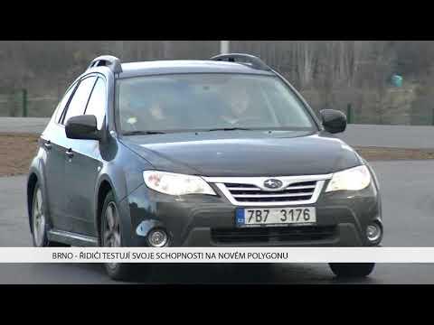 TV Brno 1: 18.12.2017 Řidiči testují svoje schopnosti na novém polygonu