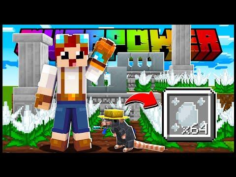 FARM DE BLOCOS USANDO RATOS NO MINECRAFT!! - Minecraft Overpower #12