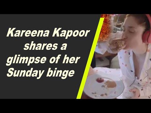 Kareena Kapoor shares a glimpse of her Sunday binge