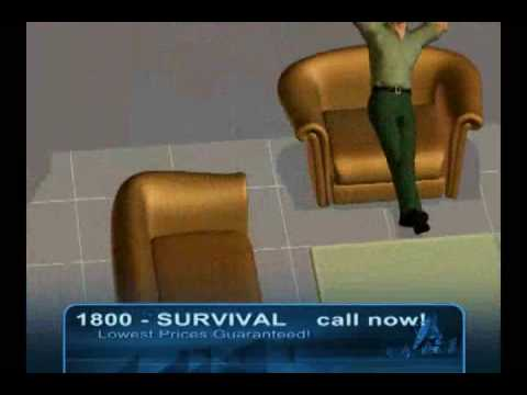 Funny Banned Commercials SURVIVAL (888) 521-4343 Lowest price! 3d Animation