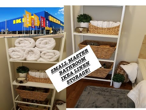 SMALL MASTER BATHROOM STORAGE| IKEA LINEN CLOSET SOLUTION