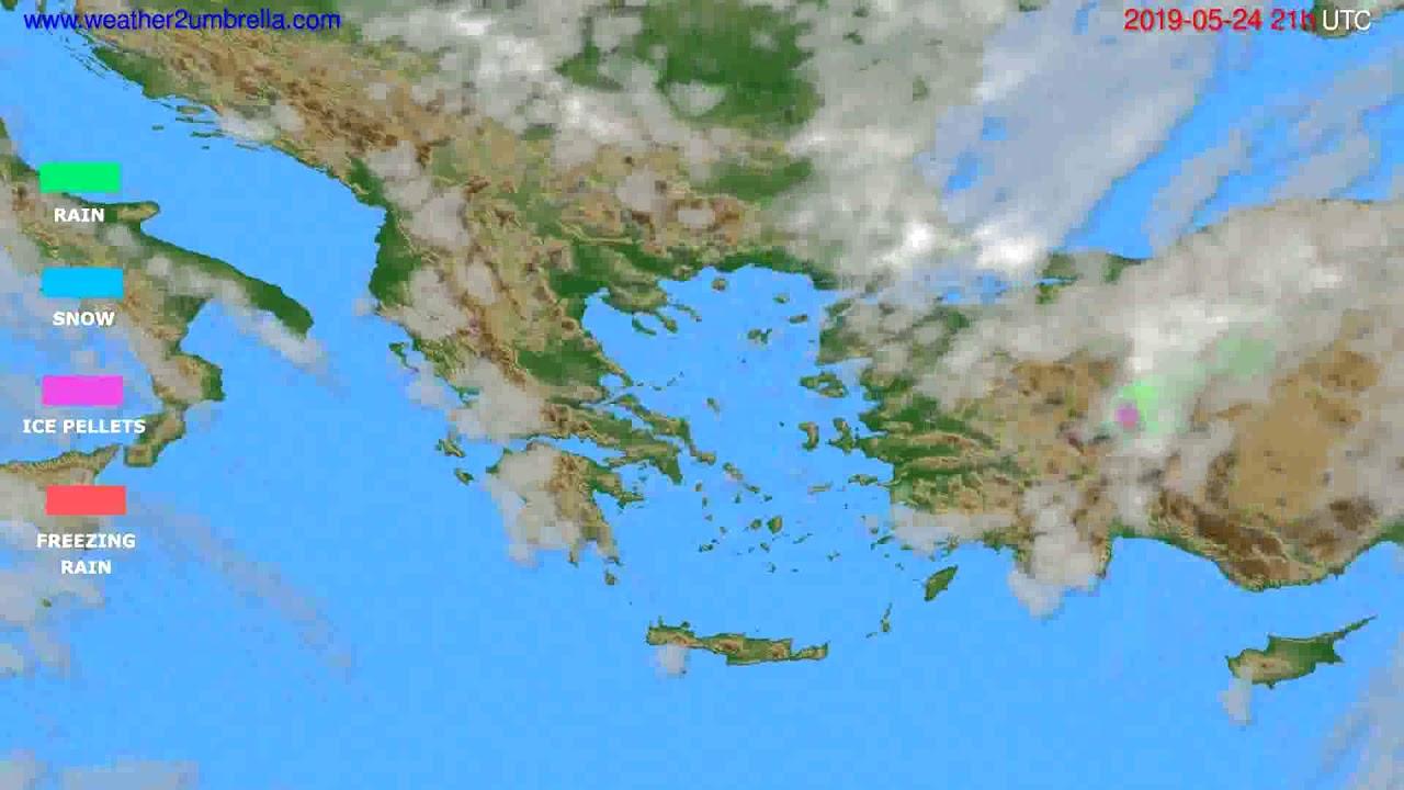 Precipitation forecast Greece // modelrun: 00h UTC 2019-05-23