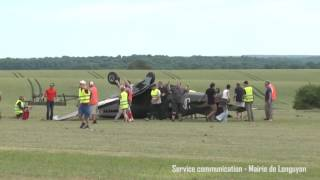 Spitfire crash on takeoff few meters from public during airshow in North of France